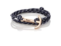 Miansai Men's Modern Anchor On Rope Bracelet Black