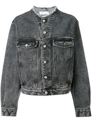 Iro Denim Jacket Women Cotton 36 Grey