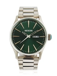 Nixon Sentry Ss Watch With Green Dial