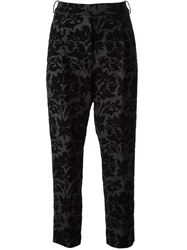 Golden Goose Deluxe Brand Baroque Devore Pattern Trousers Black