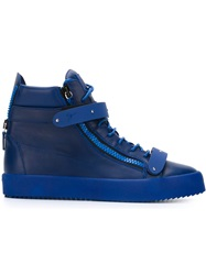 Giuseppe Zanotti Design Side Zip Hi Top Sneakers Blue