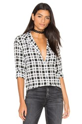 Equipment Signature Plaid Button Up Black And White
