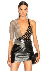 Fannie Schiavoni Scale And Mesh Top In Metallics
