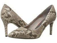 Rockport Total Motion 75Mm Pointy Toe Pump Roccia Python High Heels Animal Print