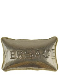 Versace Metal Mesh Small Pillow Gold Black