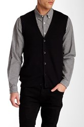Perry Ellis Front Button Knit Vest Black