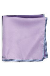 Nordstrom Men's Men's Shop Panel Silk Pocket Square Purple