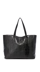 Splendid Key Largo Debossed Chevron Tote Black