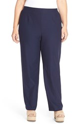 Plus Size Women's Eileen Fisher Washable Stretch Crepe Knit Pants Midnight