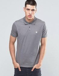 Pretty Green Polo Shirt With Polka Dot In Slim Fit Grey Charco