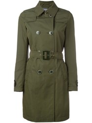 Herno Belted Trench Coat Women Cotton Polyimide 40 Green