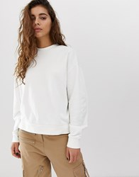 Weekday Huge Cropped Sweatshirt In White