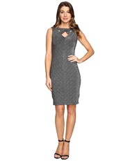 Rsvp Azalea Metallic Bodycon Midi Dress Silver Women's Dress