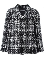 Dolce And Gabbana Boucle Knit Blazer Black