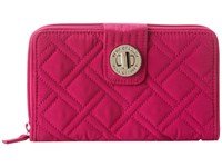 Vera Bradley Turn Lock Wallet Magenta Clutch Handbags Pink