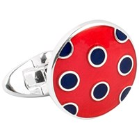 Thomas Pink Hayton Spot Cufflinks Red Navy