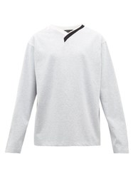Y Project Asymmetric Long Sleeved Cotton T Shirt Grey