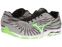 Mizuno Wave Hitogami 4 High Rise Green Gecko Dark Shadow Men's Running Shoes Gray