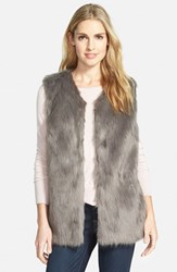 Women's Laundry By Design Faux Fur Vest Grey