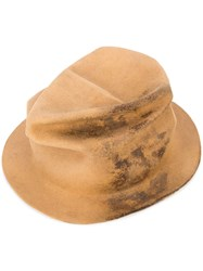 Horisaki Design And Handel Wrinkled Bucket Hat Unisex Rabbit Felt M Nude Neutrals