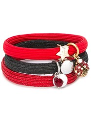 Marc Jacobs Ladybird Cluster Hair Ties Red