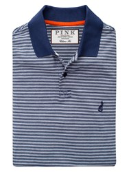 Thomas Pink Morland Stripe Classic Fit Polo Shirt Navy White