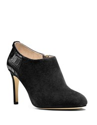 Michael Michael Kors Sammy Suede And Crocodile Embossed Ankle Boots Black