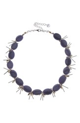 Nakamol Design Chunk Agate Necklace Blue