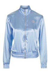 Satin Bomber Jacket By Illustrated People Blue