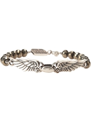 King Baby Studio King Baby Beaded Wing Span Bracelet Metallic
