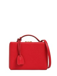 Mark Cross Small Grace Grained Leather Box Bag Mc Red