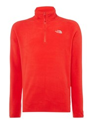 The North Face Men's 100 Glacier 1 4 Zip Fleece Red