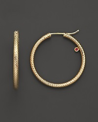 Roberto Coin 18K Yellow Gold Hoop Earrings No Color