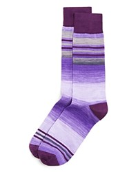 The Men's Store At Bloomingdale's Striped Socks Medium Purple