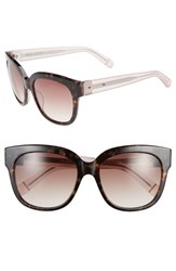 Women's Bobbi Brown 'The Taylor' 55Mm Sunglasses Tortoise Crystal