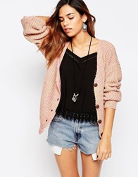 Glamorous Cardigan Neon Mix Knit Neonyellowpinkm