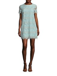 Cynthia Steffe Marley Short Sleeve Lace Dress Aqua