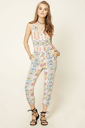 Forever 21 Tribal Print Jumpsuit
