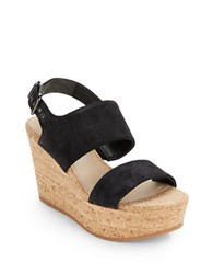 Via Spiga Kezia Suede Wedge Sandal Black