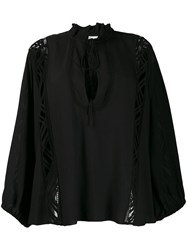 Iro Lace Panel Blouse Black