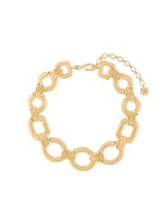 Givenchy Vintage Logo Chain Link Necklace Metallic