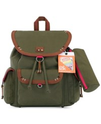 The Sak Pacifica Flap Medium Backpack With Patches A Macy's Exclusive Style Olive Patch