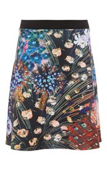 Clover Canyon Etched Blooms Flared Skirt Print