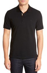 Men's Burberry Brit 'Oxford' Short Sleeve Polo Black