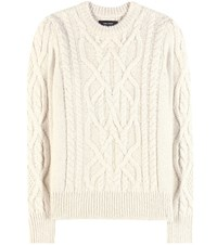 Isabel Marant Gayle Baby Alpaca And Merino Wool Blend Knitted Sweater Beige
