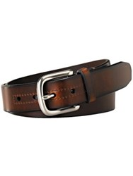 Fossil Hanover Leather Belt Brown
