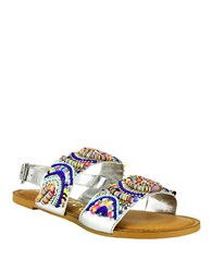 Naughty Monkey Big Sky Beaded Faux Leather Sandals