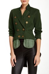 L.A.M.B. Cropped Military Jacket Green