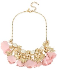Inc International Concepts M. Haskell For Gold Tone Imitation Pearl Flower Statement Necklace Only At Macy's Blush