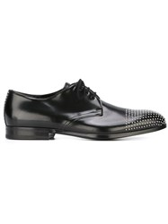 Alexander Mcqueen Studded Derby Shoes Black